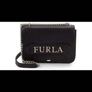 "NWT Furla ""Carol"" Logo Crossbody/ Shoulder Bag$378"